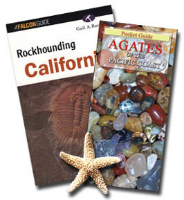 Pocket guide - Agates of the Pacific Coast plus Rockhounding California - By Gail A. Butler: for a site-by-site guide to Patrick's Point, Jade Cove, Moonstone Beach and more.  In Stock for immediate FREE Shipping to U.S. destinations by USPS media mail