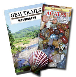 Click here to order the Washington Beachcomber's Special: Gem Trails of Washington and the pocket guide to Agates of the Pacific Coast In Stock and Ships immediately, just $19.90 plus shipping.
